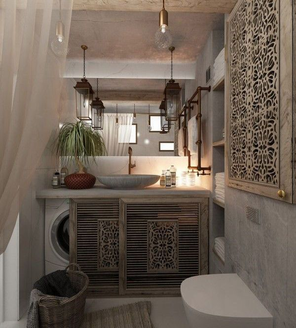 Decorar Baño Lavadora:Cómo esconder la lavadora?- Home Decor – Cuarto de baño