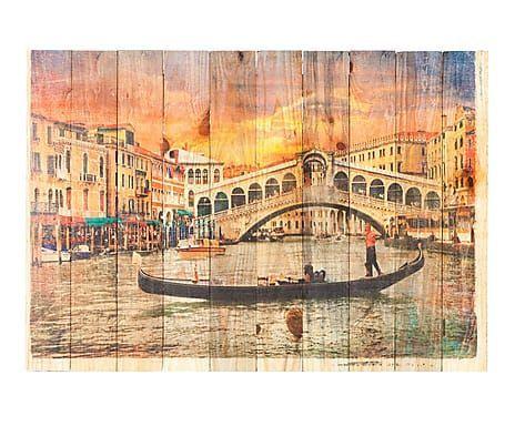 Fotocuadro Madera Impreso Venecia