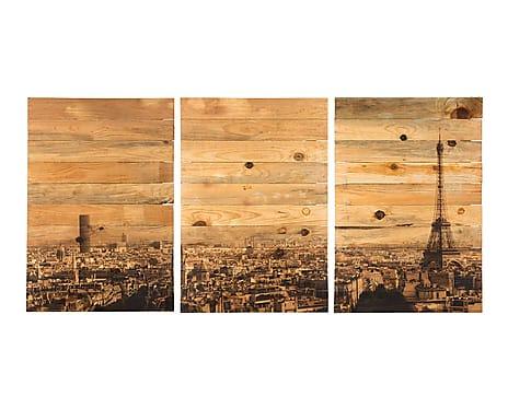 Tríptico Madera Impresa París