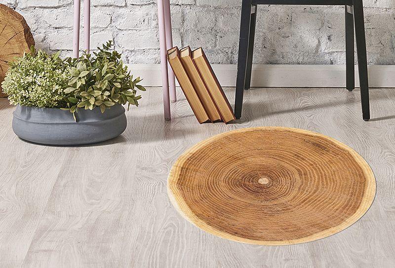 Alfombra vinilica redonda alfombras de vinilo para - Alfombras de madera ...