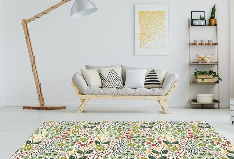 Alfombras Salon Modernas - Floral Country Garden 150x65 cm