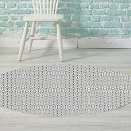 Alfombra Vinilica - Blanco y Negro 95x95 cm