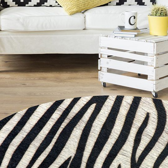 Alfombra Dormitorio - Zebra 180x180 cm
