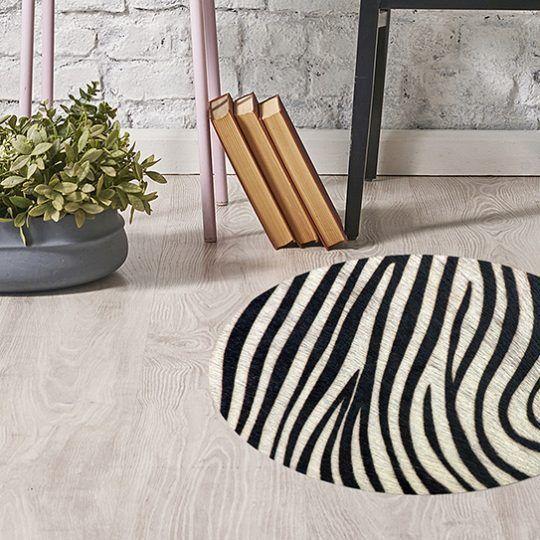 Alfombra de pvc - Zebra 60x60 cm