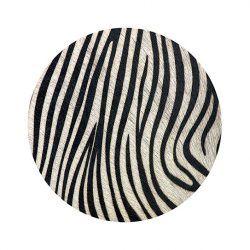 Alfombra Vinilica Redonda Zebra