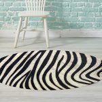 Alfombra Salon - Zebra 95x95 cm