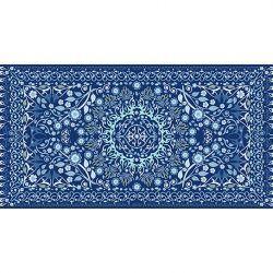 Alfombra Vinilica Cenefa Azul 97x48cm