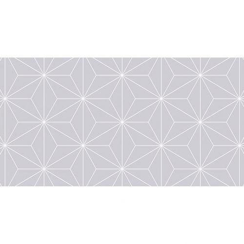 Alfombra Vinilica Geométrico Gris 97x48cm