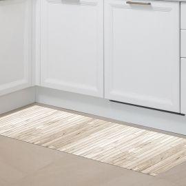 Alfombra de pvc - Madera Brown White 150x65cm