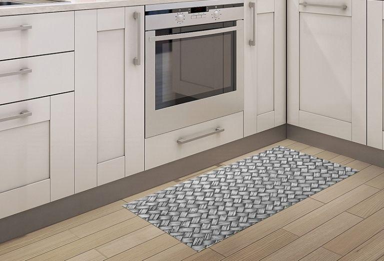 Alfombras de Cocina - Trenzado Grey 97x48cm
