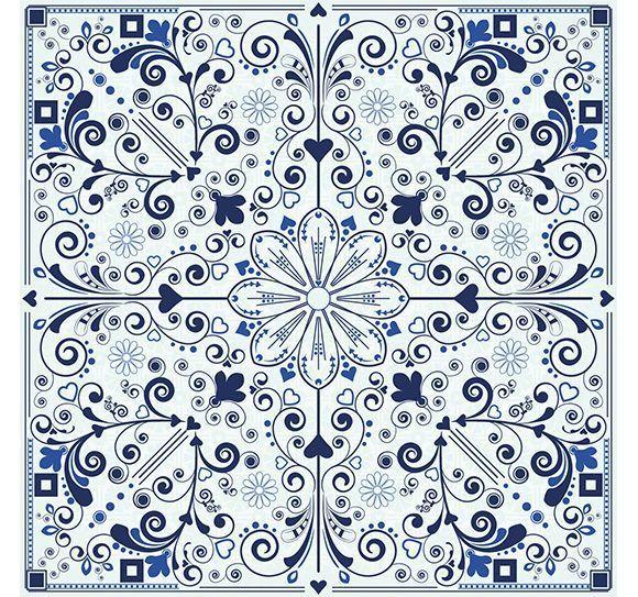 set de 24 Vinilos Adhesivos Azul Málaga