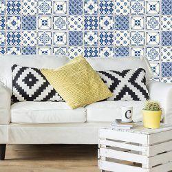 24 Vinilos Adhesivos Azul Sevilla - Vinilos Decorativos Pared