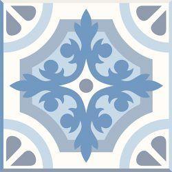 set de 24 Vinilos Adhesivos Azul Marbella
