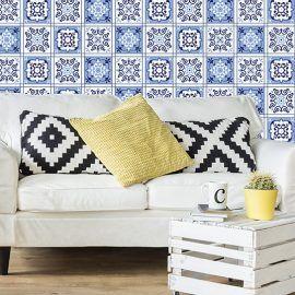 24 Vinilos Adhesivos Azul Granada - Vinilos Decorativos Salon
