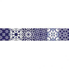 set de 24 Vinilos Adhesivos Azul y Blanco