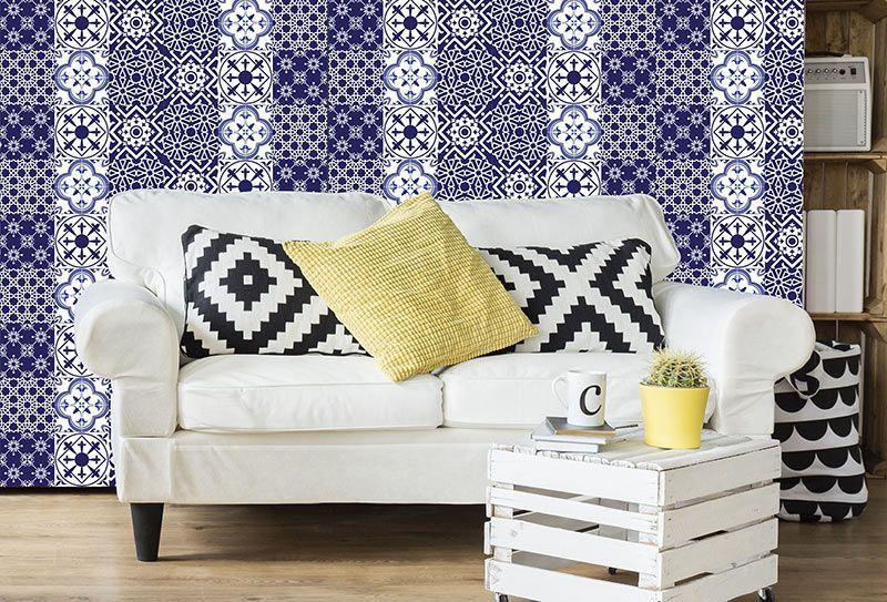 Azulejos decorativos en vinilo adhesivo pegatinas - Azulejo 15x15 blanco ...