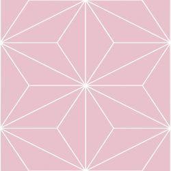 set de 24 Vinilos Adhesivos Rosa Geométrico
