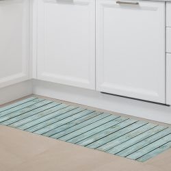 Alfombras Vinilo - Madera Turquoise 150x65cm