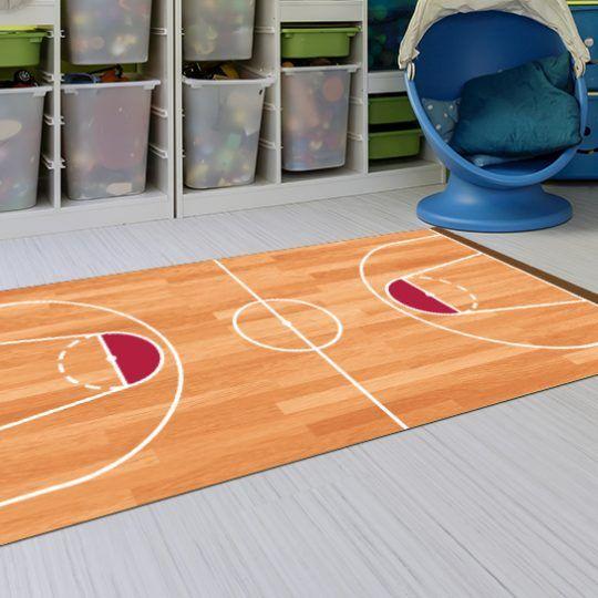 Alfombras Habitacion Niño - Baloncesto 143x97