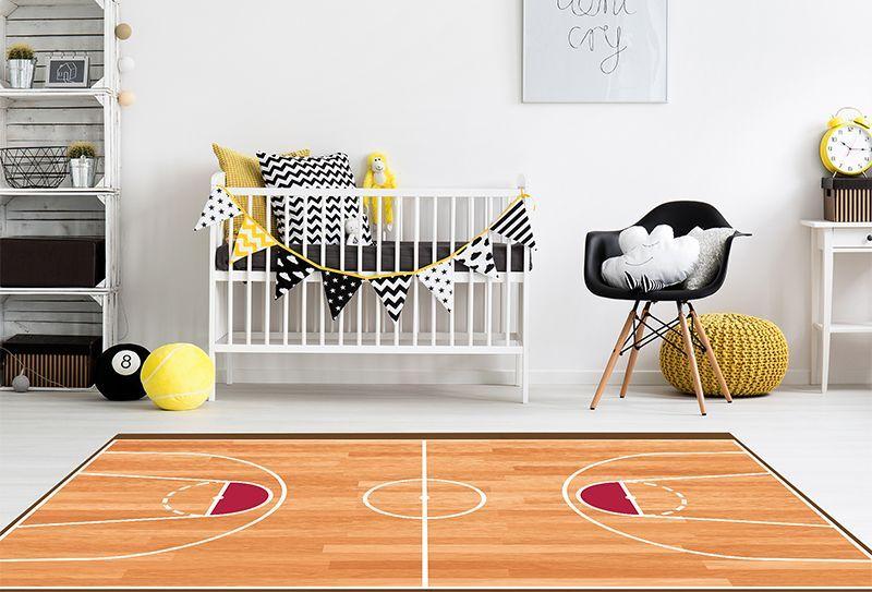 Alfombras Infantiles Grandes - Baloncesto 295x195
