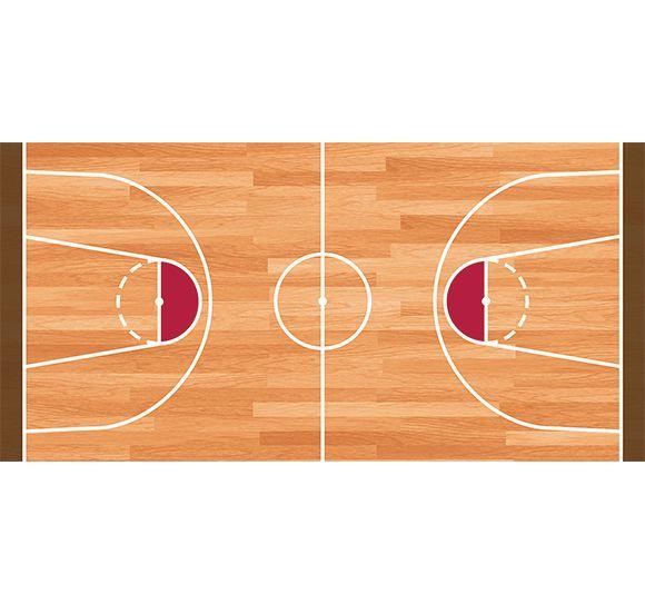 Alfombra Vinílica Infantil 97x48cm - Baloncesto