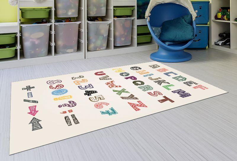 Alfombras infantiles lavables abc 143x97 alfombras - Alfombras infantiles lavables ...