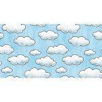 Alfombra Vinílica Infantil 97x48 - Nubes