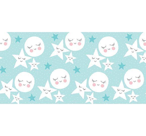 Alfombra Vinílica Infantil 97x48 - Estrellas del sueño