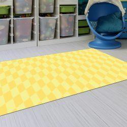 Alfombra Plastico - Geométrico Amarillo 143x97