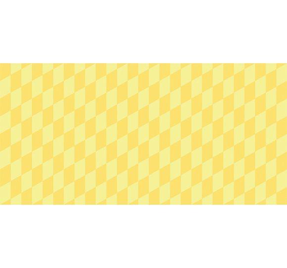 Alfombra Vinílica Infantil 97x48 - Geométrico Amarillo