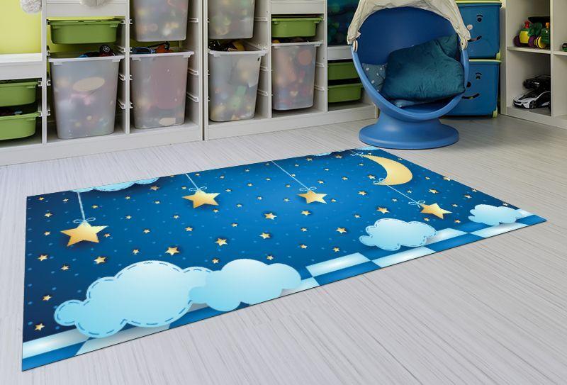Alfombras Infantiles Lavables - Cielo Estrellado 143x97