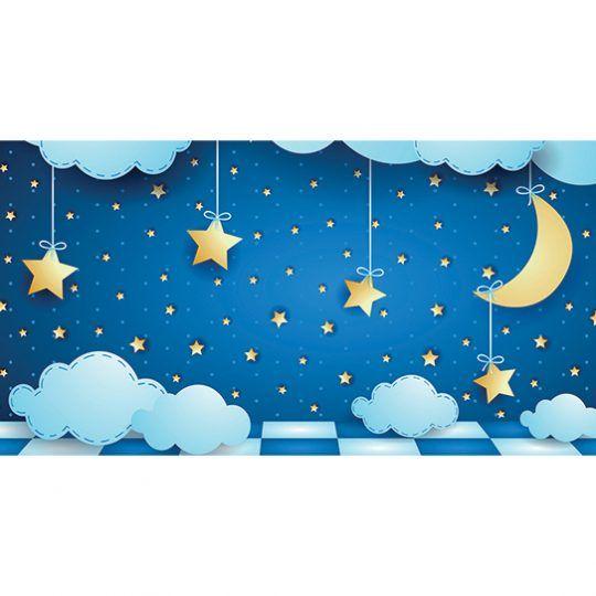 Alfombra Vinílica Infantil 97x48 - Cielo Estrellado