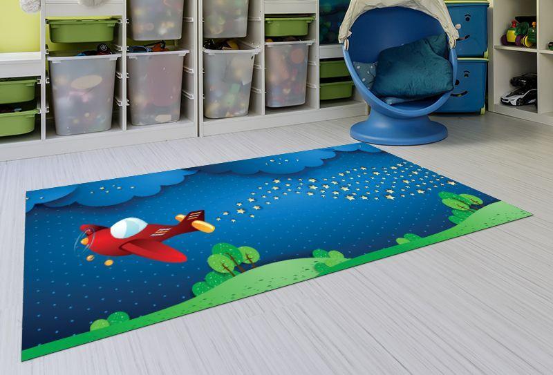 Alfombras para niños - Aeroespacial 143x97