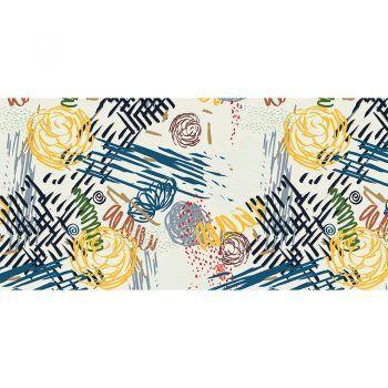Alfombra Vinílica Infantil - Scribble - 97x48