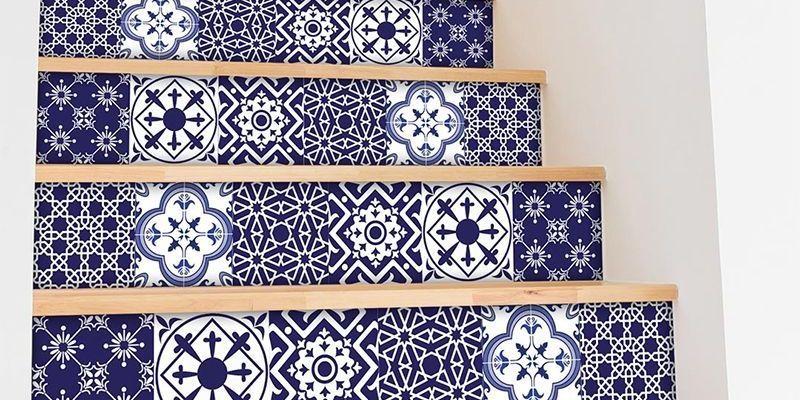 4 ideas para la decoraci n con vinilos de baldosa home decor - Azulejos de vinilo ...