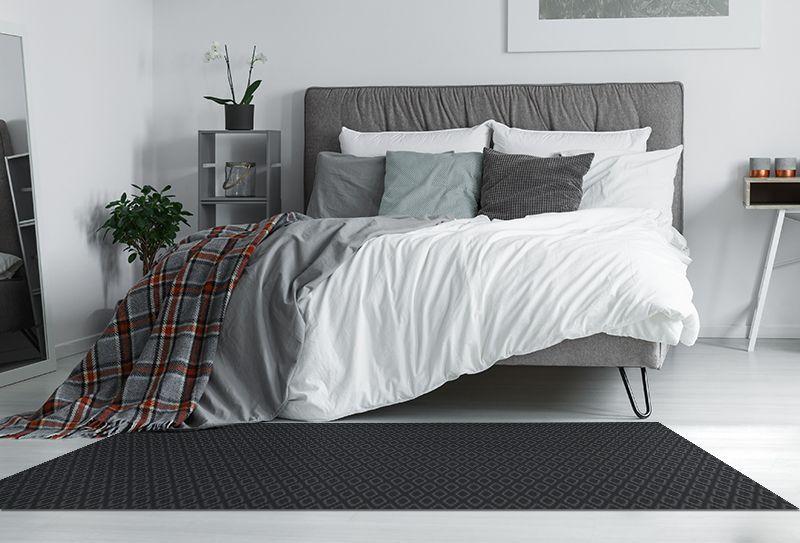 Alfombras sinteticas rombo negro 175x74cm alfombras - Alfombras sinteticas ...