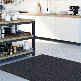 Alfombra pvc cocina - Rombo Negro 196x122cm