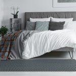 Alfombras pie de cama - Rombo Gris 175x74cm