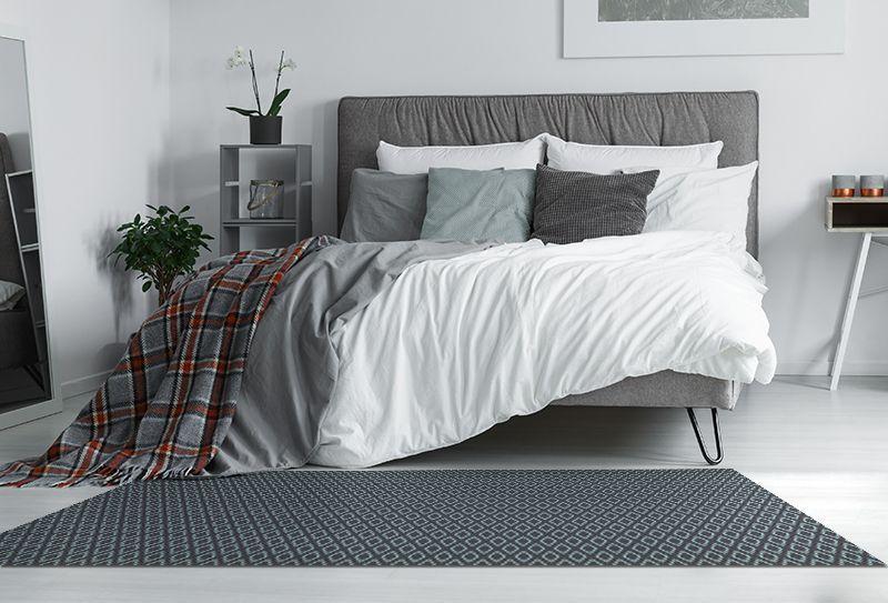 Alfombras pie de cama rombo gris 175x74cm alfombras - Alfombras pie de cama ...