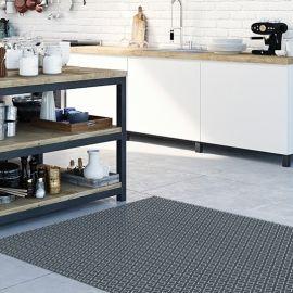 Alfombras de cocina - Rombo Gris 196x122cm