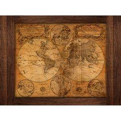 Cuadro de Madera - Mapa Vintage