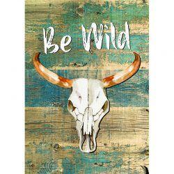 Cuadro de Madera - Be Wild