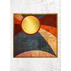 Cuadro de Madera - Abstract Sun
