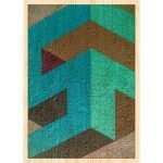 Cuadro de Madera - Abstract Turquoise