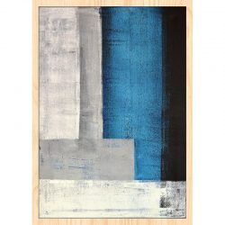Cuadro de Madera - Abstract Blue
