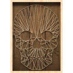 Cuadro de Madera Impresa - Skull