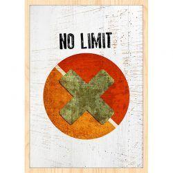 Cuadro de Madera Impresa - No Limit