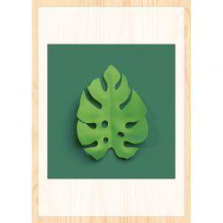 Cuadro de Madera Impresa - Split Leaf