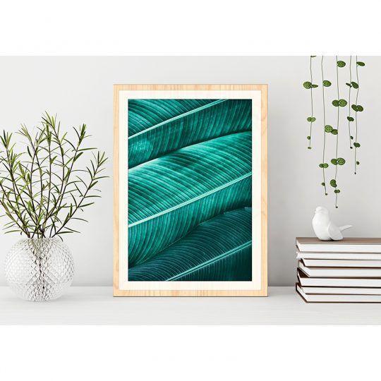 Cuadro de Madera Impresa - Jungle Leaves - Ambientación