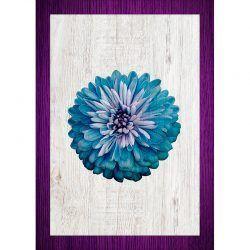 Cuadro de Madera Impresa - Flor Azul